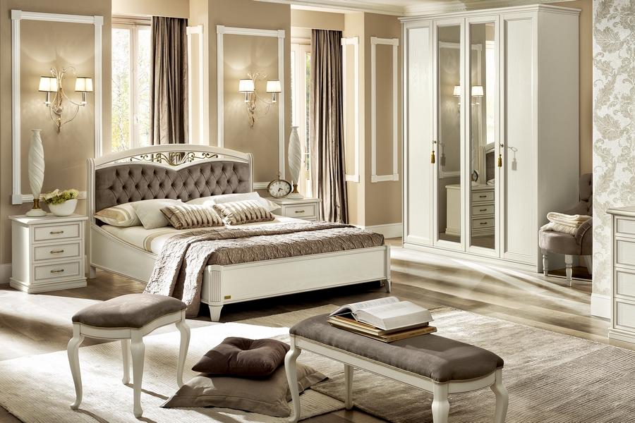 Witte Slaapkamer Meubels : Klassieke witte meubels collecties selva nabucco tiffany