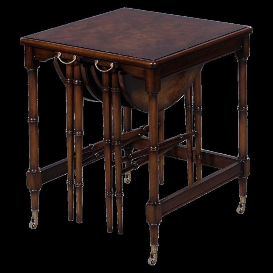 33219 - nesting table burl top