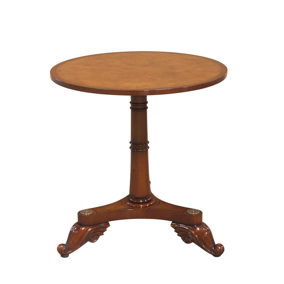 Wortelnoten Pedestal Center Table 33034
