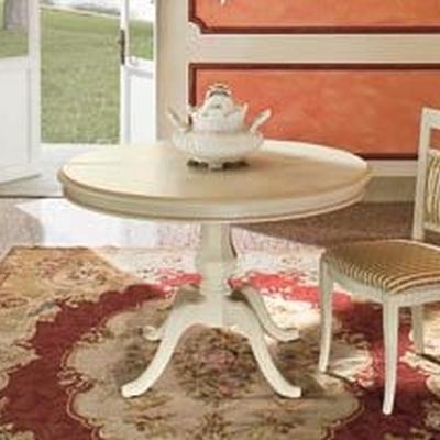 Ronde eettafel wit klassieke meubels