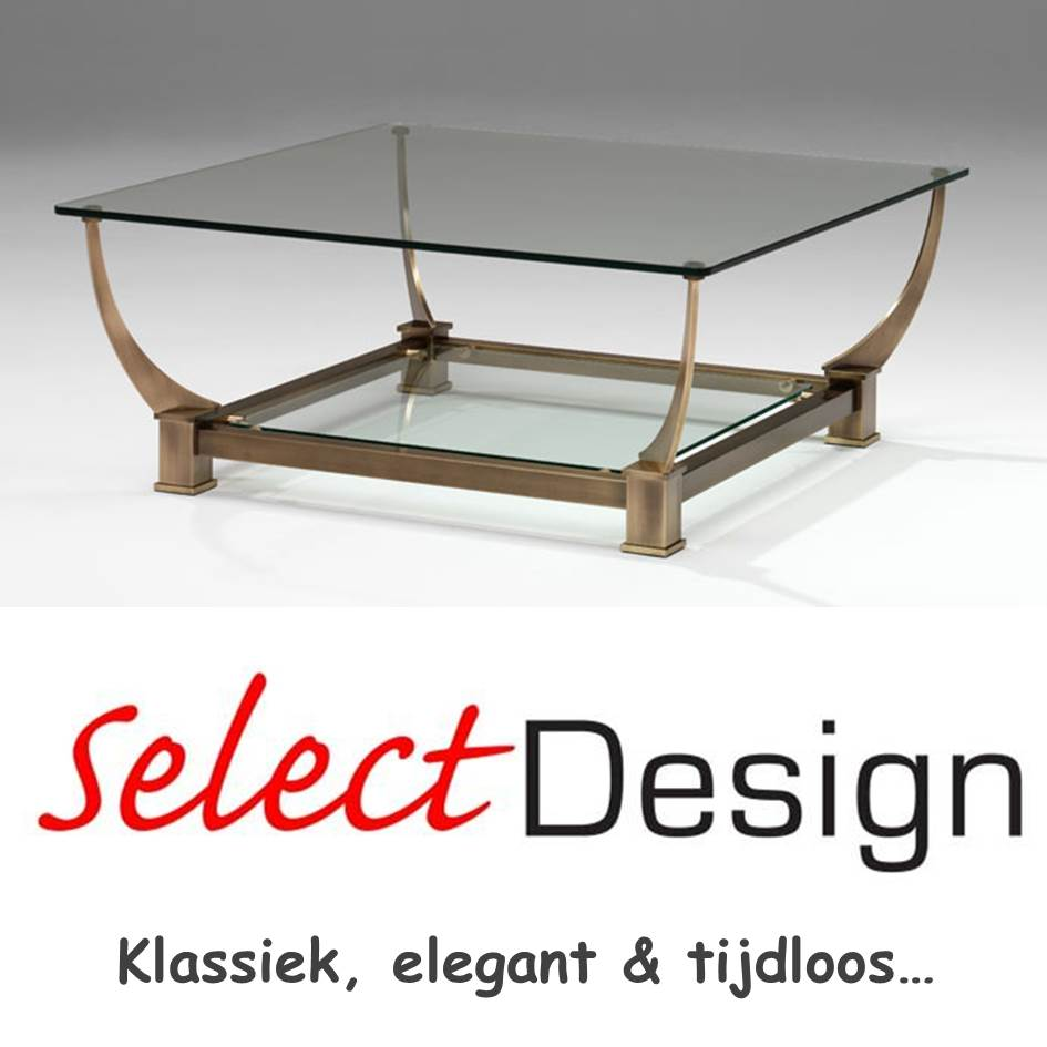 Salontafel met glas Rainbow Selectdesign