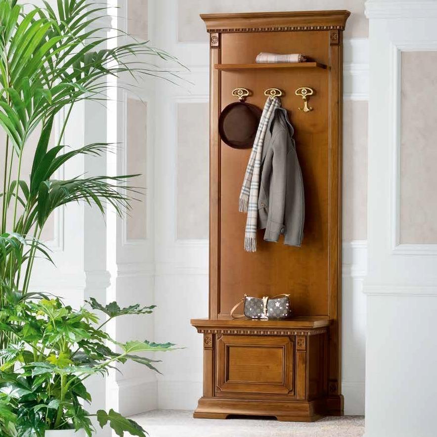 Garderobe smal kersenhout