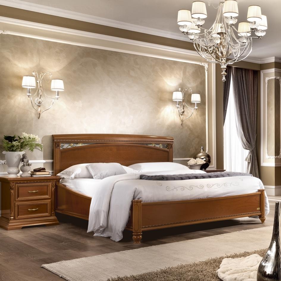 Kersen bed klassieke slaapkamer