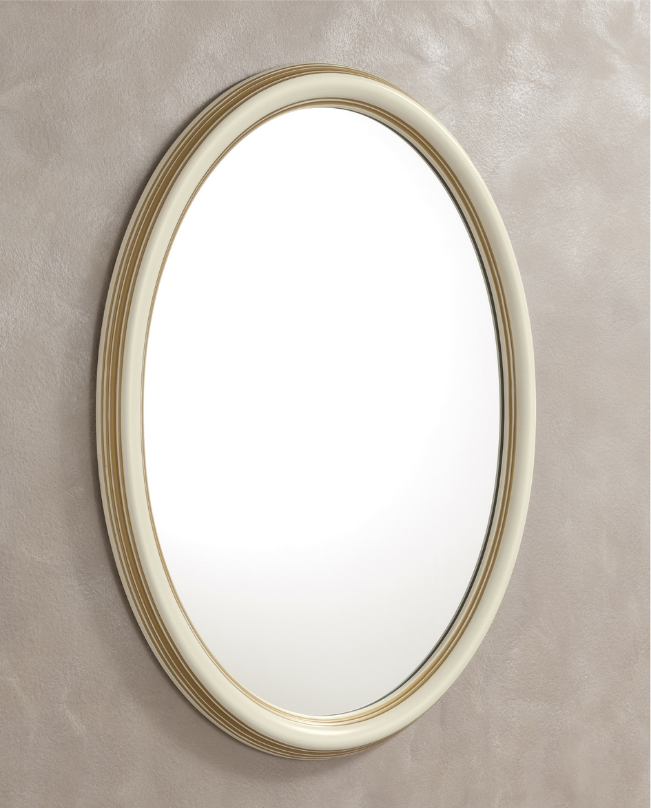 Spiegel ovaal wit
