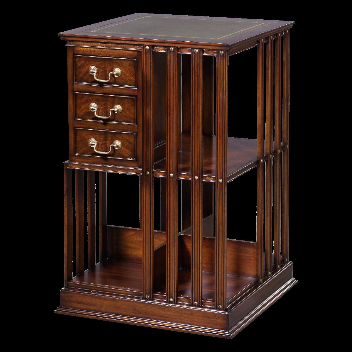 12537l - bookcase revolving em agrn