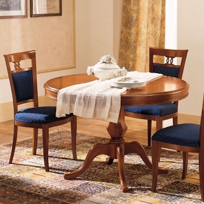 Klassieke kersen meubelen eetkamertafel rond