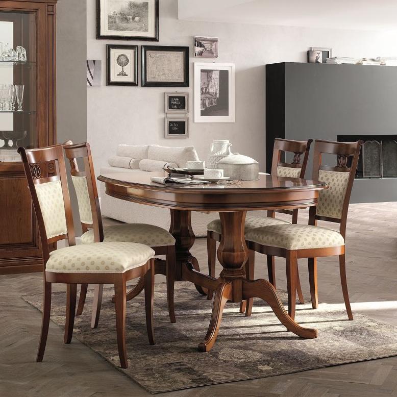 Klassieke kersen meubelen eettafel ovaal