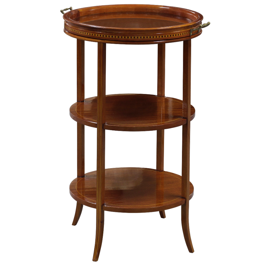 33064 three tier glass topped table wn