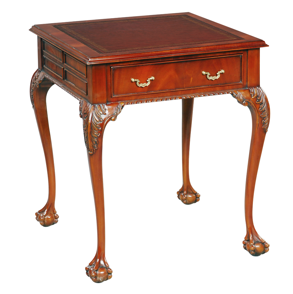 33758l - bc square side table leather top