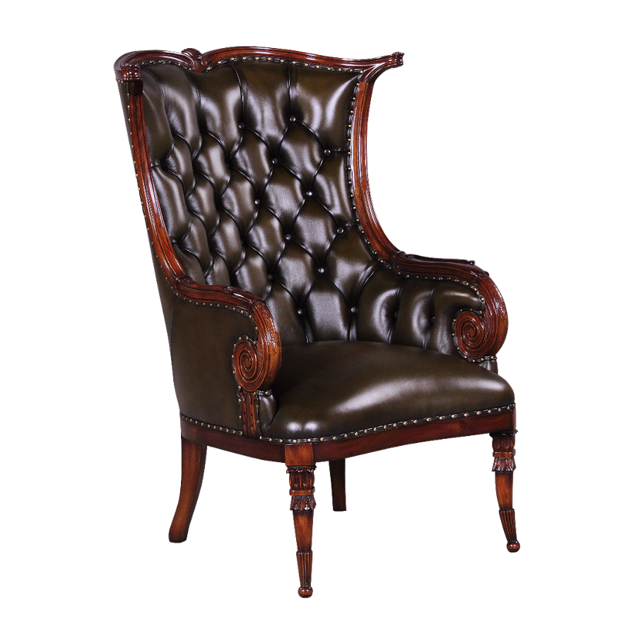 fauteuil klassiek mahonie 31360