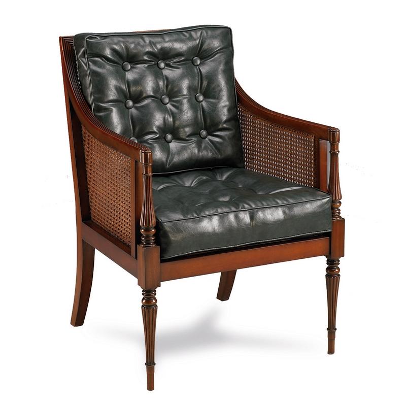 klassieke fauteuil mahonie leer 33173