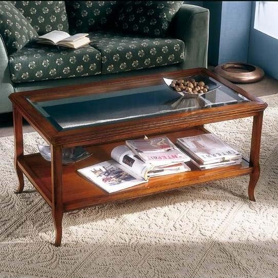 klassieke salontafel glas 715