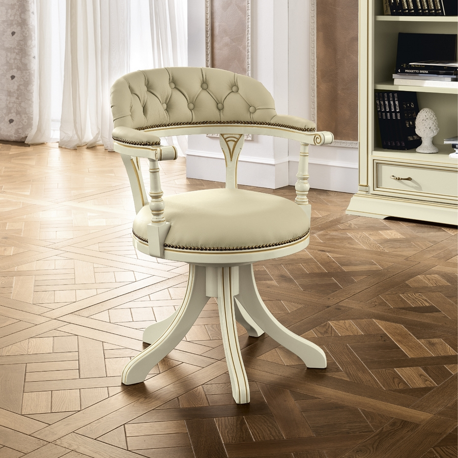 buro fauteuil wit TREVISO