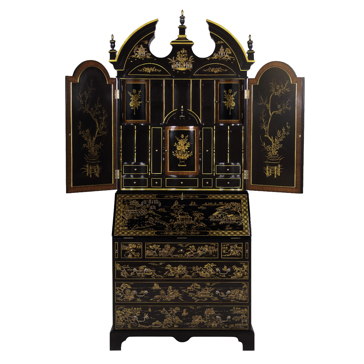 34420 - secretary desk chinoiserie