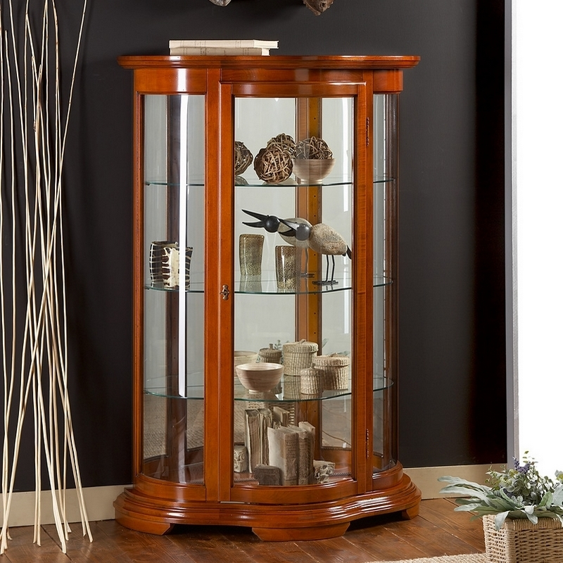 Vitrinekast Klassieke meubels noten kersen 51