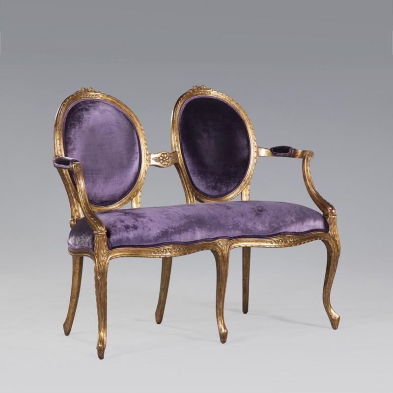 Twee zits bankje Frans Klassieke Meubelen