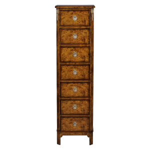 33573bs - french inlaid lingerie commode burl em sfd1