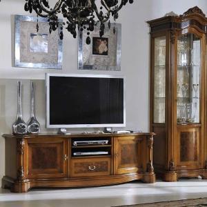 Laag TV meubel notenhout E510R