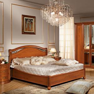 Klassiek bed kersenhout zonder voetbord