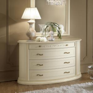 Commode slaapkamer wit Siena