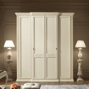 Kledingkast wit klassiek Siena