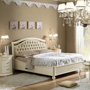 Bed klassieke meubels wit Siena made in Italy