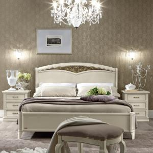 Wit bed klassieke slaapkamer Nostalgia bianco
