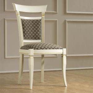 Klassieke slaapkamer stoel wit