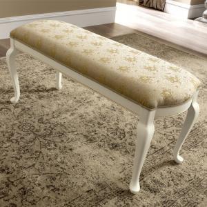 klassiek bedbankje wit hout