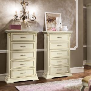 Ladekast wit klassieke slaapkamer