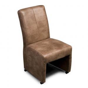 Eetstoel op wieltjes Zutphen Haveco stoel