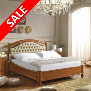 Bed kersen sale eco leather hoofdbord