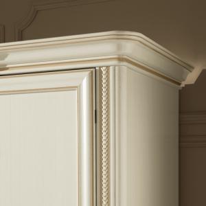 Klassieke meubels slaapkamerkast wit detail