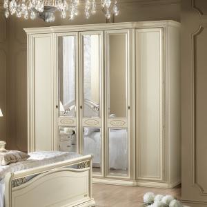 5 deurs slaapkamerkast wit Siena
