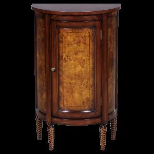33033 - half round side cabinet burl em sfd1