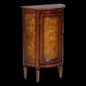 33033 - half round side cabinet burl em sfd2