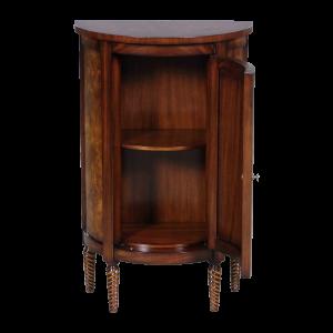 33033 - half round side cabinet burl em sfd3