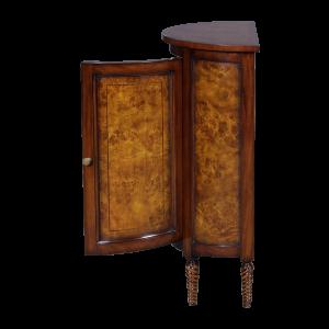 33033 - half round side cabinet burl em sfd5
