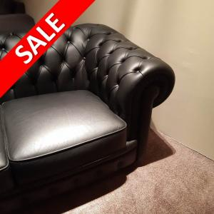chesterfield zwart bankstel sale