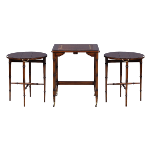 31512l - table set nesting group 3 pcs leather top sfd4