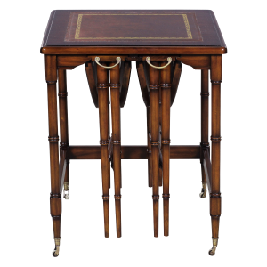 31512l - table set nesting group 3 pcs leather top sfd1