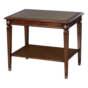 33421l - side table alain leather top