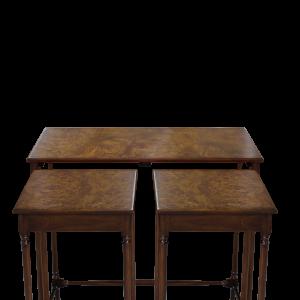 33040bs set of three table burl veneered em sfd5
