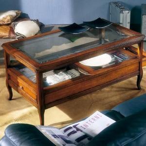 klassieke salontafel glas 716