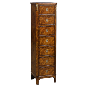 33573bs - french inlaid lingerie commode burl