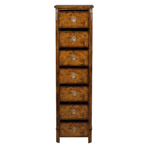 33573bs - french inlaid lingerie commode burl em sfd3