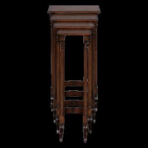 33223 - table set nesting set of 4 adam quarto burl top em sfd4