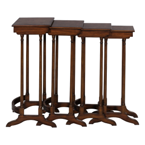 33223 - table set nesting set of 4 adam quarto burl top em sfd6