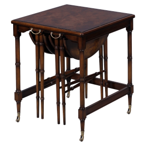 33219 - nesting table burl top