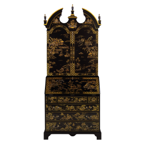 34420 - secretary desk chinoiserie chinoiserie black sfd1